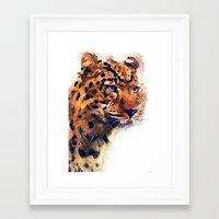 leopard Framed Art Prints featuring Leopard by jbjart