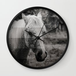 GreyScale Horse Wall Clock
