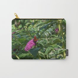 Peacock butterfly on buddleia Carry-All Pouch
