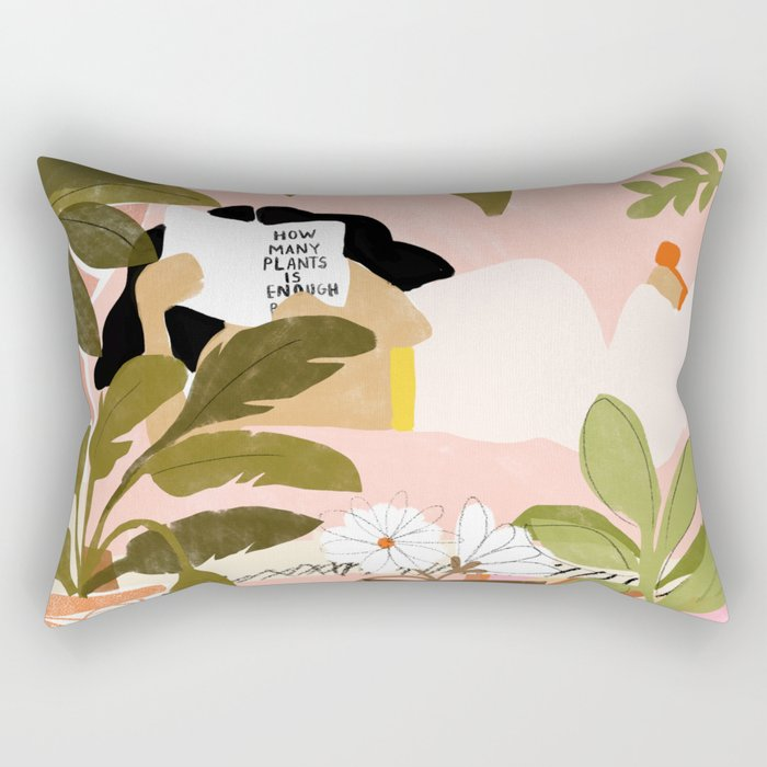 How Many Plants Is Enough Plants? Rectangular Pillow