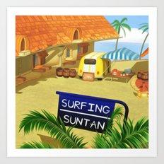 Costa Del Sol Surfing Suntan Art Print