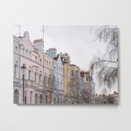 Colorful Notting Hill Apartment Buildings in London Metal Print
