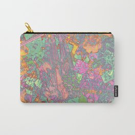 Denim Collage Print Carry-All Pouch