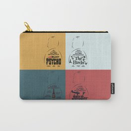 Four Hitchcock movie poster in one (Psycho, The Birds, North by Northwest, Notorious), cinema, cool Carry-All Pouch