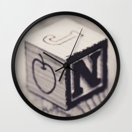 Toy cube... Monochrom Wall Clock