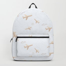 Travel pattern with airplanes Backpack