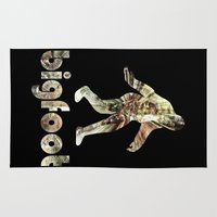 bigfoot Area & Throw Rugs featuring Bigfoot Predator by D-fens