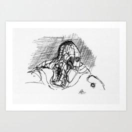 Warbot Sketch #021 Art Print