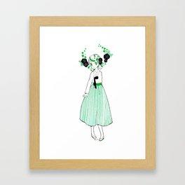 Jade Hanbok Framed Art Print