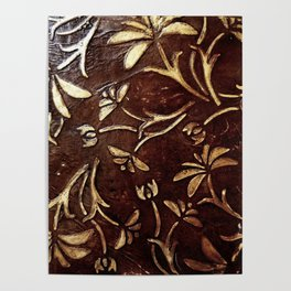 Old West - Embossed and gilded leather - original painting Poster