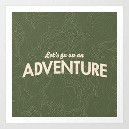 The Adventure Art Print