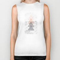 triangles Biker Tanks featuring Triangles by Indiepeek