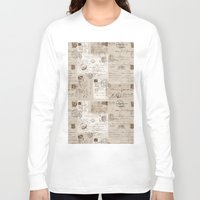 letters Long Sleeve T-shirts featuring Old Letters by LebensART
