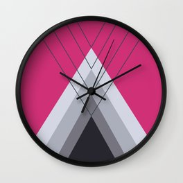 Iglu Pink Yarrow Wall Clock