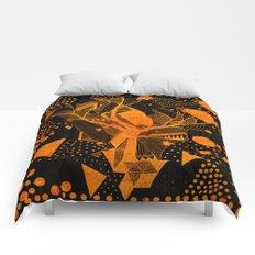 golden geometry Comforters