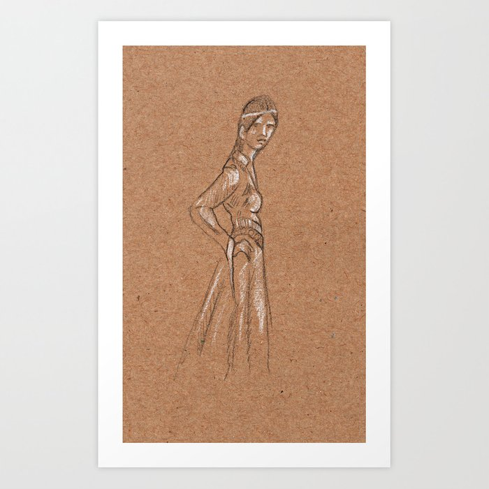 Girl from another time Art Print