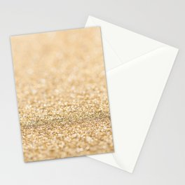 Beautiful champagne gold glitter sparkles Stationery Cards