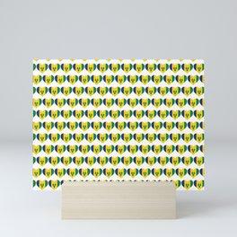 Saint Vincent and the Grenadines Love flagMotif Repeat Pattern design background  Mini Art Print
