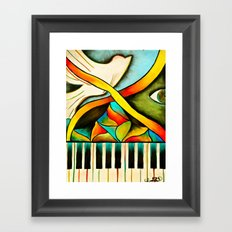 Piano- Behold Framed Art Print