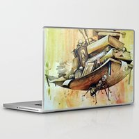 school Laptop & iPad Skins featuring school by Andreas Derebucha