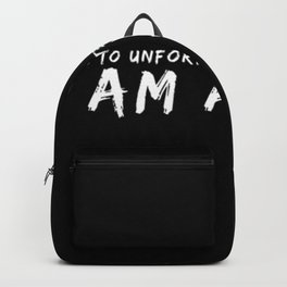 why am I awake Backpack