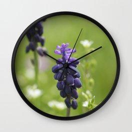 Purple wild flowers Wall Clock