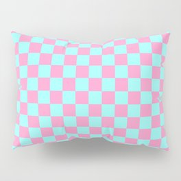 Pink and Blue Checkerboard Pillow Sham