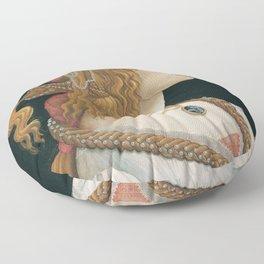 """Sandro Botticelli """"Idealized Portrait of a Lady (Portrait of Simonetta Vespucci as Nymph)"""" Floor Pillow"""