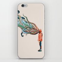 huebucket iPhone & iPod Skins featuring Octopus in me by Huebucket