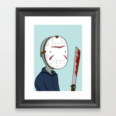 Adventure Time with Jason Voorhees Framed Art Print