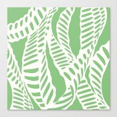 Al Peas: Ivory on Sage/Green Canvas Print
