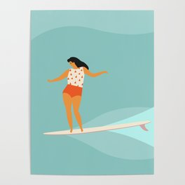 Surf girl Poster