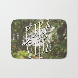 Pura Vida Costa Rica Jungle Life Caribbean Type Bath Mat