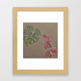 Florida Flora Framed Art Print