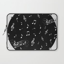 Music White and Black Laptop Sleeve