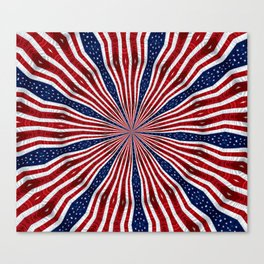 American Flag Kaleidoscope Abstract 1 Canvas Print