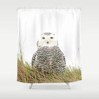 hedwig Shower Curtains featuring Hedwig by Ruurd Jelle van der Leij Highkeyart