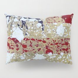 """""""Splattered Flag"""" Pillow Sham"""
