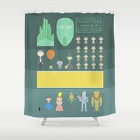 oz Shower Curtains featuring Wizard of Oz by Seez