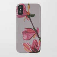 magnolia iPhone & iPod Cases featuring Magnolia by Marjolein