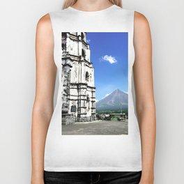 Mayon Volcano & the Old Church Biker Tank