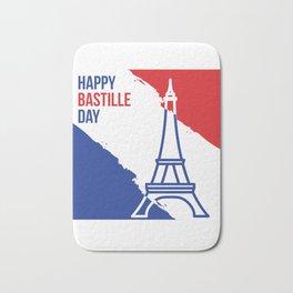 Happy Bastille Day Bath Mat