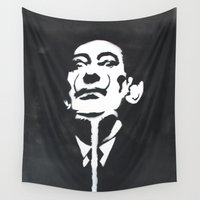 salvador dali Wall Tapestries featuring Salvador Dali Stencil by Michellehill