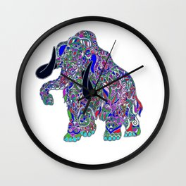 Purple elephant Wall Clock