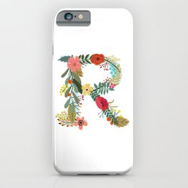 Monogram Letter R iPhone Case
