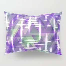 Spring pastel purple shiny triangles. Pillow Sham