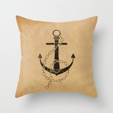 Anchor Print Throw Pillow