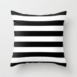 Black Bold Stripes Throw Pillow