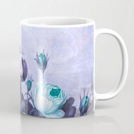 Teal Roses Blue Birds : Temple of Flora Coffee Mug
