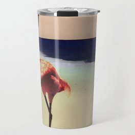 Flamingo beach Travel Mug